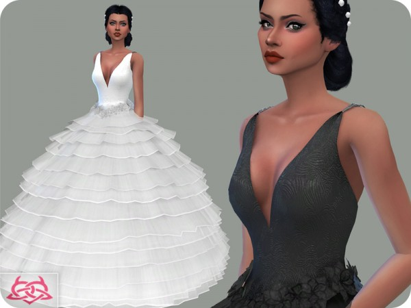 The Sims Resource: Wedding Dress 16 by Colores Urbanos