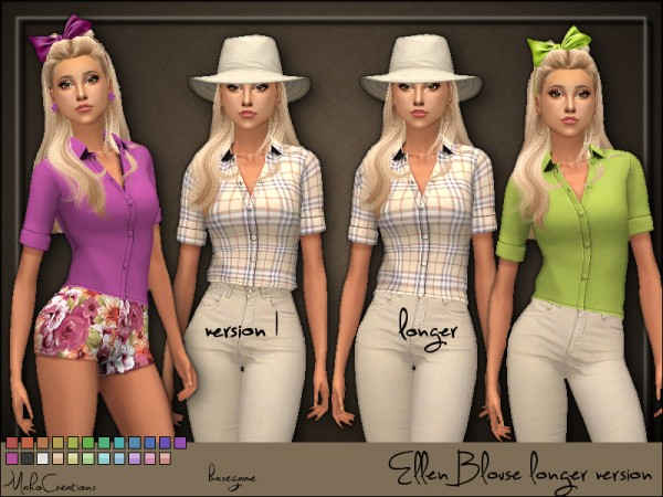 The Sims Resource: Ellen Blouse longer version by MahoCreations