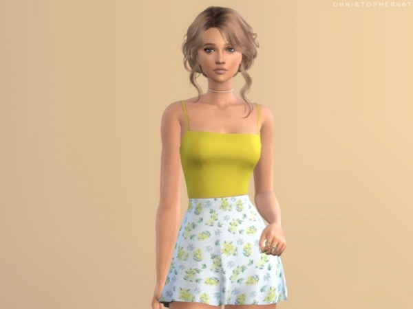 The Sims Resource: Cool Girl Top by Christopher067