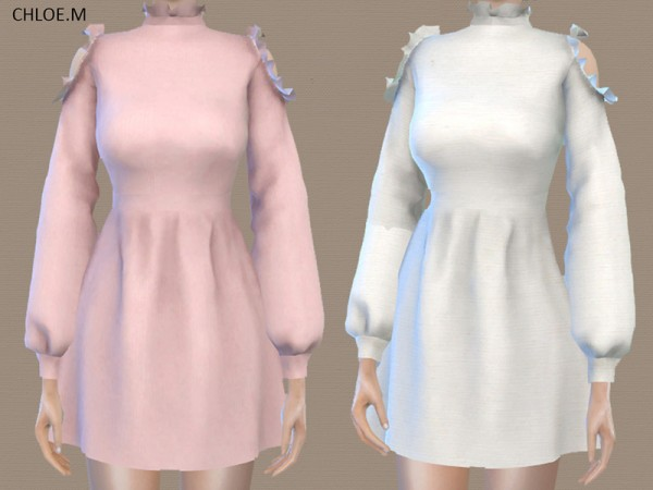 The Sims Resource: Dress with falbala by ChloeMMM