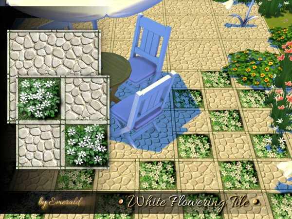 The Sims Resource: White Flowering Tile by emerald