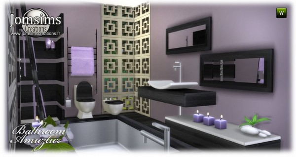 Jom Sims Creations: Amuztuz bathroom