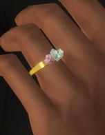 Rusty Nail: Double heart shape ring