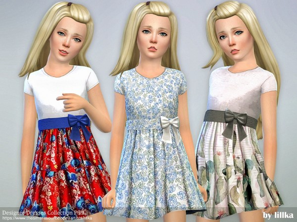 The Sims Resource: Designer Dresses Collection P99 by lillka