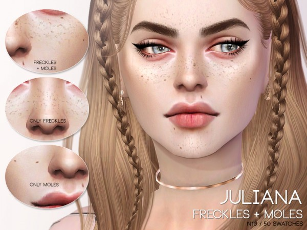 The Sims Resource: Juliana Freckles and Moles N10 by Pralinesims