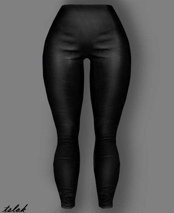 Tslok: G r e a s e Leather Leggings