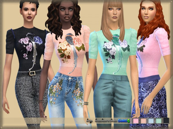 The Sims Resource: Shirt and Applique by bukovka