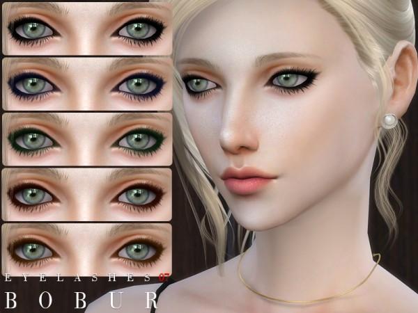 The Sims Resource: Eyelashes 07 by Bobur