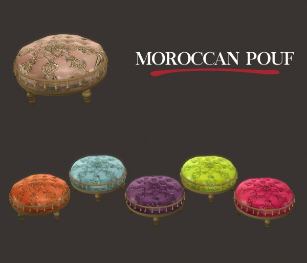 Leo 4 sims moroccan pouf sims 4 downloads for Art 1576 cc