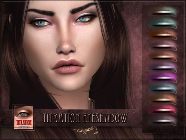 The Sims Resource: Titration Eyeshadow by RemusSirion