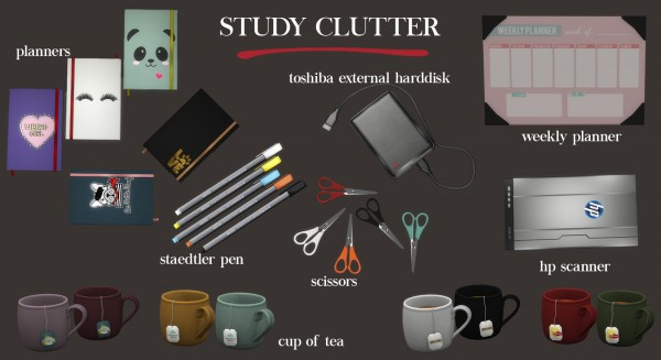 Leo 4 Sims: Study clutter