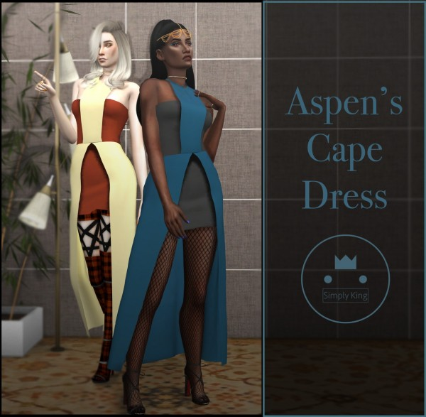 Simply King: Aspen's Cape Dress