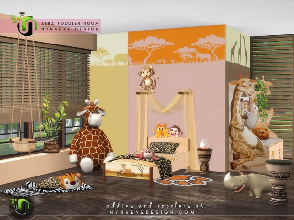 The Sims Resource: Aura Toddlers Room by NynaeveDesign
