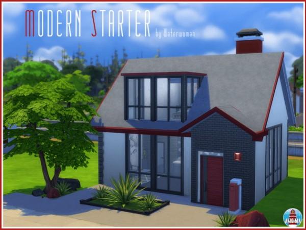 Akisima Sims Blog: Modern starter house