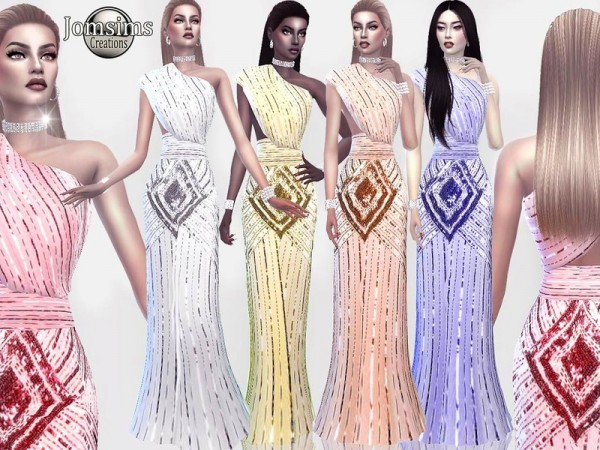 The Sims Resource: Silveltsid dress by jomsims