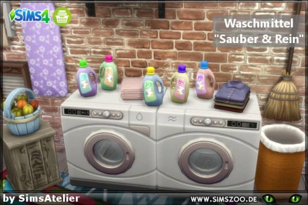 Blackys Sims 4 Zoo: Detergent Clean & Clean by SimsAtelier