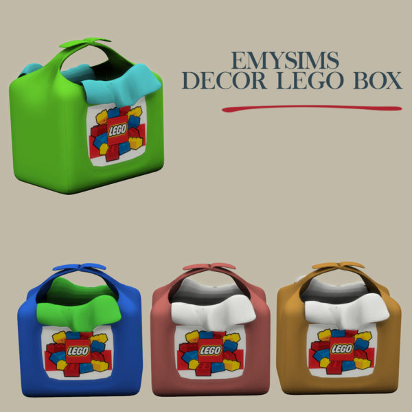 Leo 4 Sims: Decor lego boxes