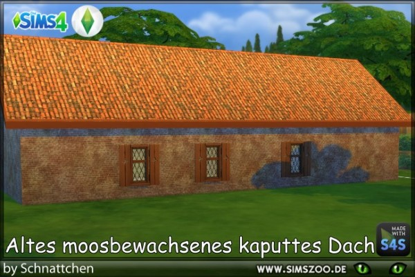 Blackys Sims 4 Zoo: Old brick roof by Schnattchen