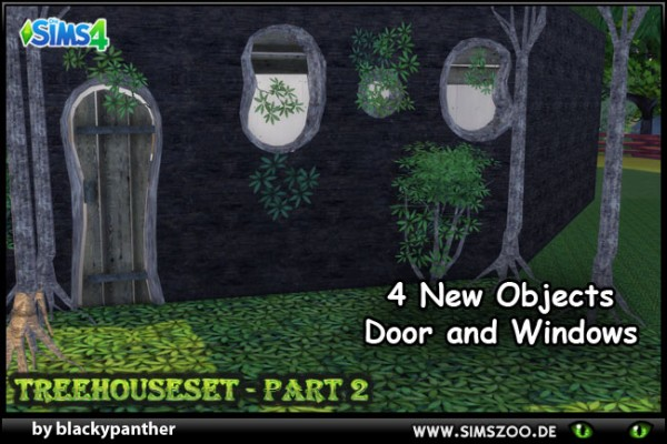 Blackys Sims 4 Zoo: Tree house Set Part 2  by blackypanther