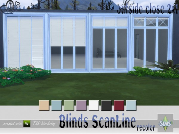 The Sims Resource: Recolor Blinds Scan Line Outside by BuffSumm