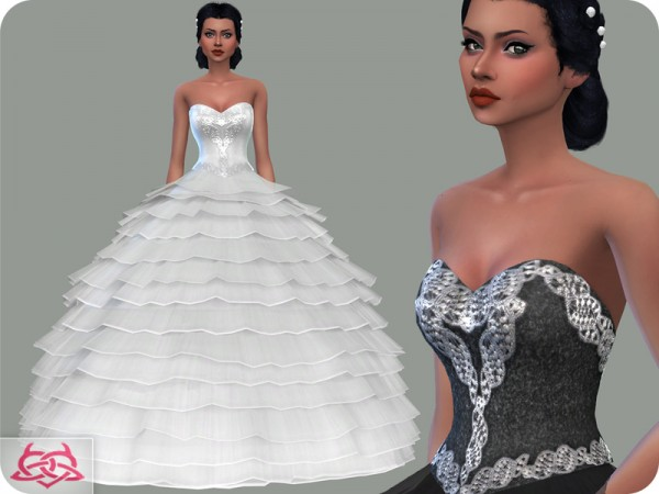 The Sims Resource: Wedding Dress 13 by Colores Urbanos