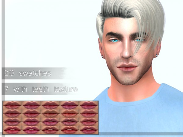The Sims Resource: Nat lips by Urielbeaupre