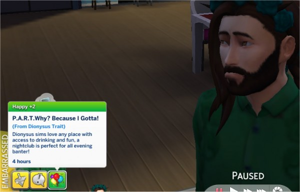 Mod The Sims: Dionysus Trait by PurpleThistles