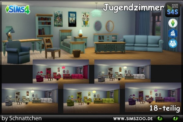 Blackys Sims 4 Zoo: Bedroom furniture by Schnattchen