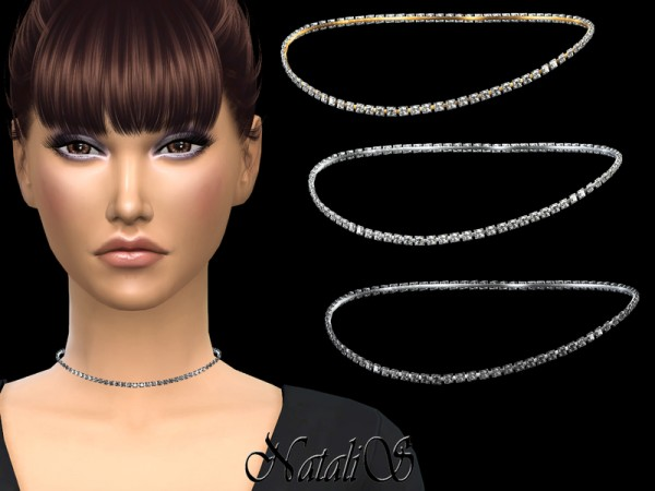 The Sims Resource: Short crystals necklace by NataliS
