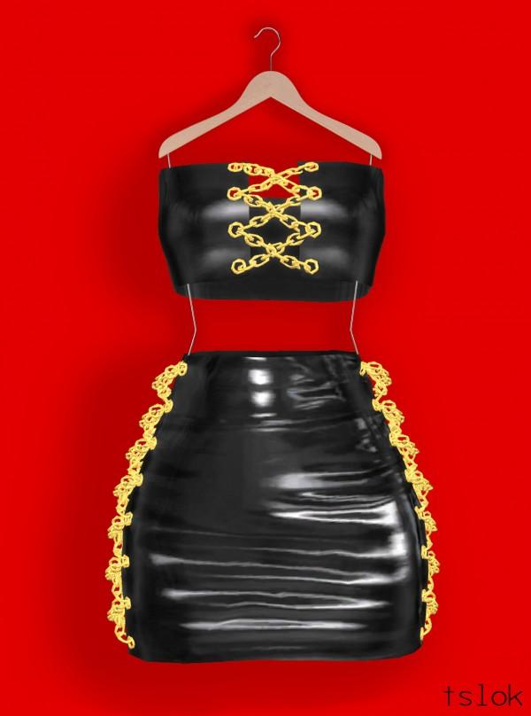 Tslok Skye Latex Latex Dress Chains Sims 4 Downloads