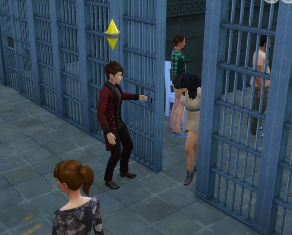 Mod The Sims: Functional Cell door mod  by mome89x