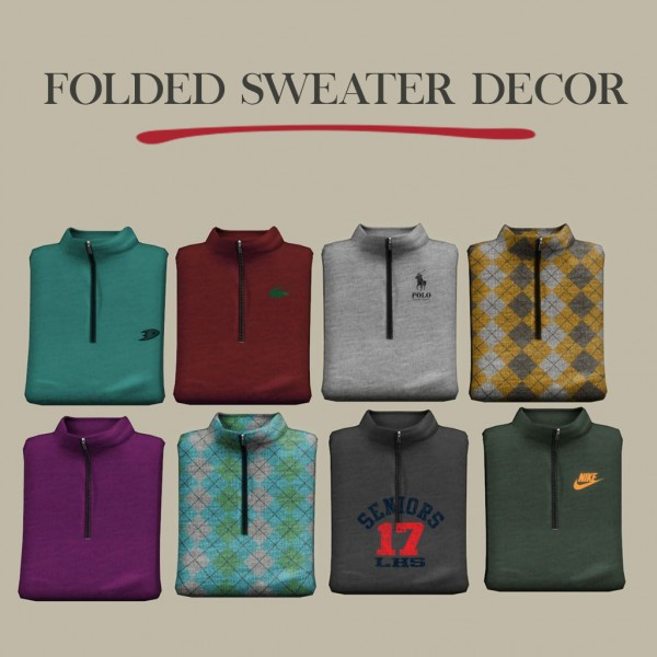 Sims 4 Cc S The Best Windows By Tingelingelater: Leo 4 Sims: Folded Sweaters • Sims 4 Downloads
