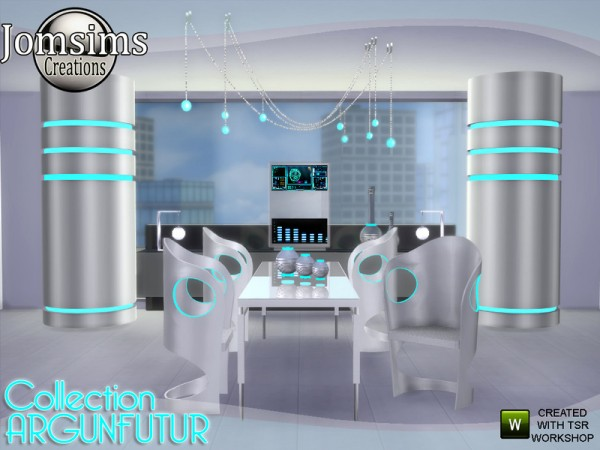 The Sims Resource: Argunfutur diningroom led and reflections by Jomsims