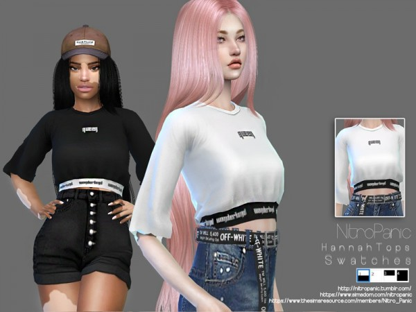 The Sims Resource: Hannah Top by Nitro Panic