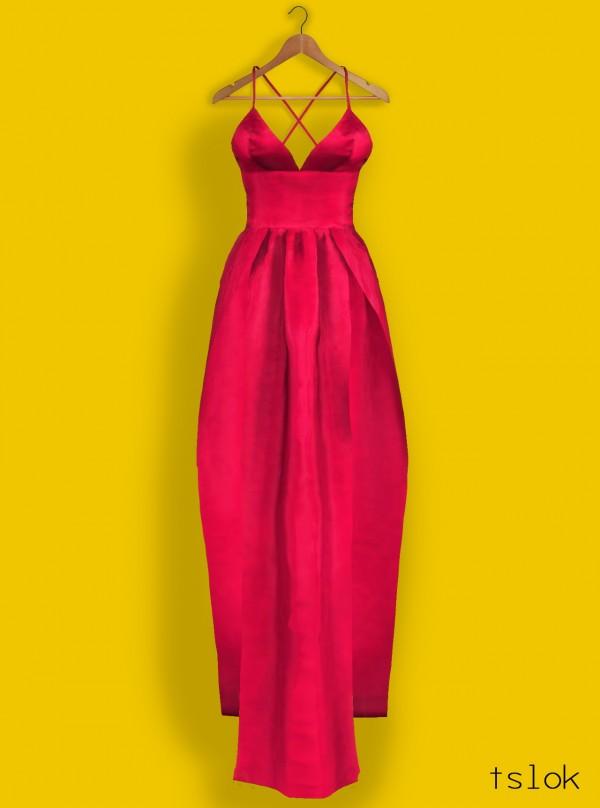 Tslok: Abyss high slit dress