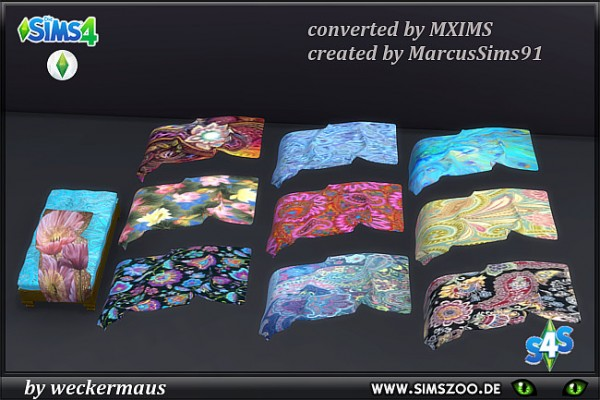Blackys Sims 4 Zoo: Orient blanket by weckermaus