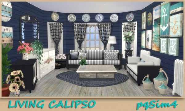 PQSims4: Calipso livingroom