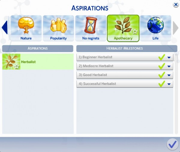 Mod The Sims: Herbalist Aspiration by MarieLynette
