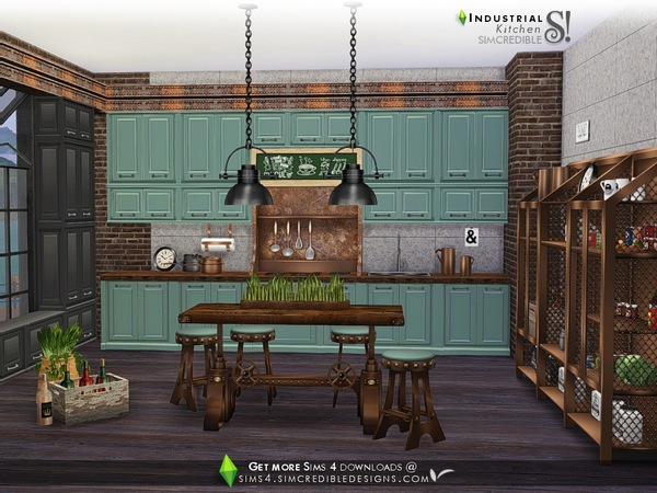The Sims Resource: Industrial Kitchen by SIMcredible!