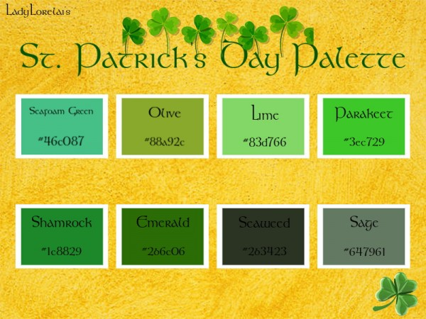 Simsworkshop: St. Patricks Day Photoshop Palette by LadyLorelai