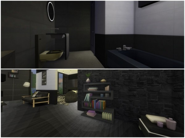 The Sims Resource: Black House by Inesel