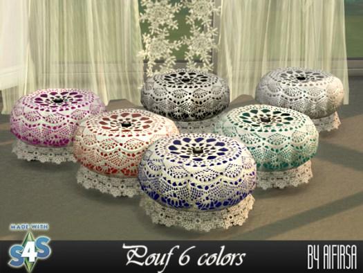 Aifirsa Sims: Lace pouf 6 colors