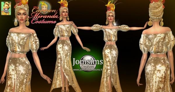 Jom Sims Creations: Carmen Miranda outfit