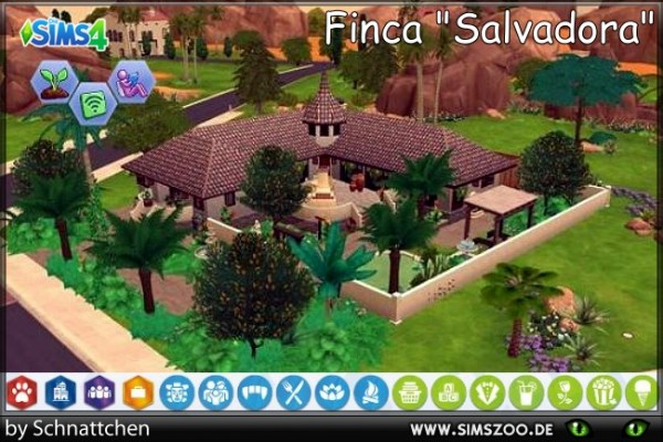 Blackys Sims 4 Zoo: Salvador house by Schnattchen