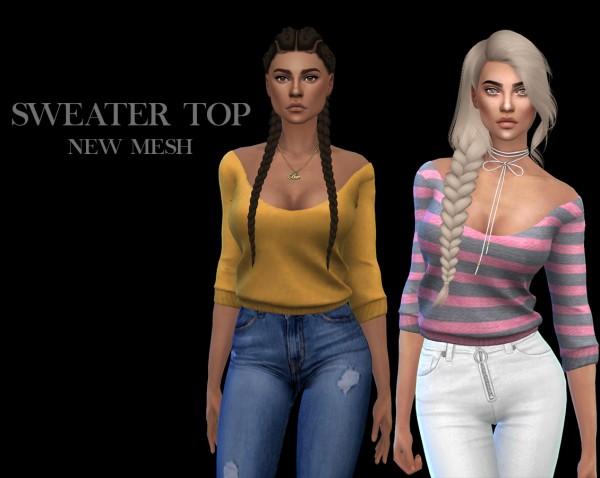 Leo 4 Sims: Sweater top