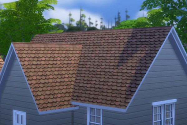 Blackys Sims 4 Zoo: House roof Alt 1