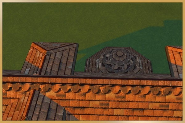 Blackys Sims 4 Zoo: Brick roof 02 by Schnattchen