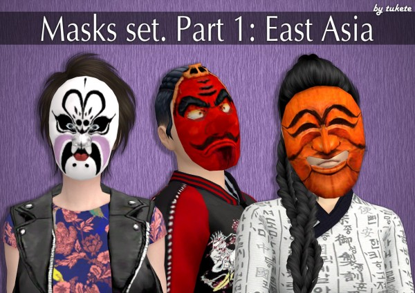 Tukete: Masks set. Part 1: East Asia