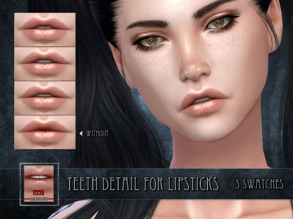 The Sims Resource: Teeth for Lipsticks by RemusSirion