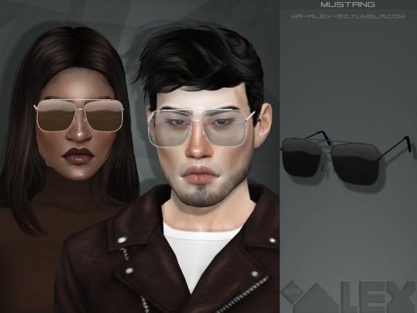 The Sims Resource: Mustang glasses by Mr.Alex